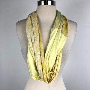 Free People | Yellow Long Floral Infinity Scarf